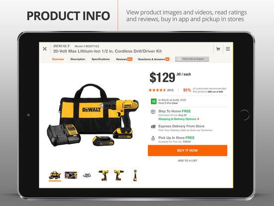 The Home Depot iPad Screenshot 4