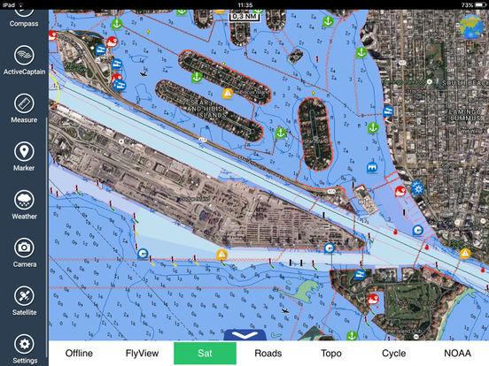 FlyToMap GPS HD - All in one (Park Marine Lake Travel maps) iPad Screenshot 3