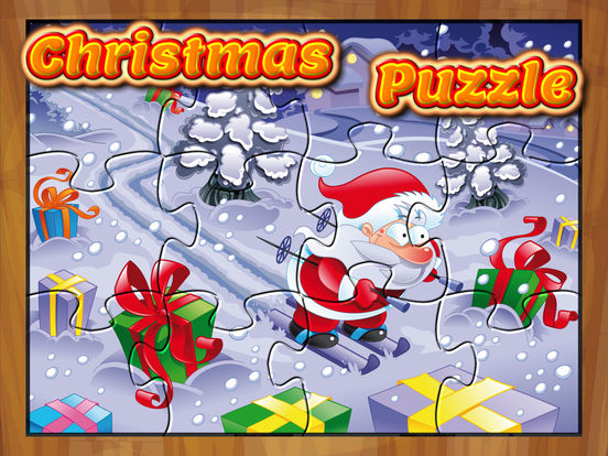 Happy Christmas Time with Santa Claus, Snowman, Elf, Reindeer Jigsaw Puzzles: Fun Educational Game for Kids and Toddlers screenshot 6