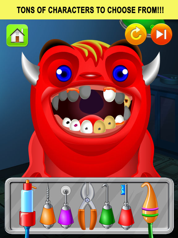 Monster Dentist Doctor Shave - Kid Games Freescreeshot 3
