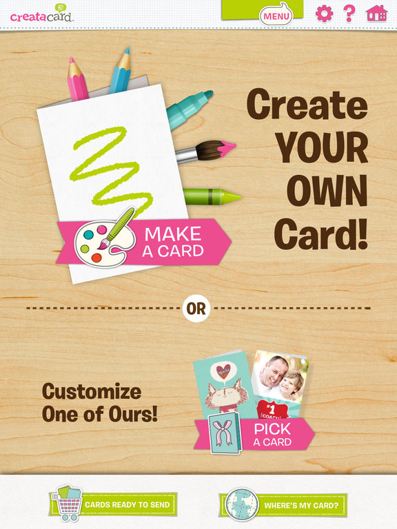 Creatacard Card Maker Create and Send Birthday Cards and More – Ipad Birthday Card