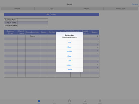 Bills Ledger Screenshots