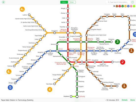 Explore Taipei metro map iPad Screenshot 1