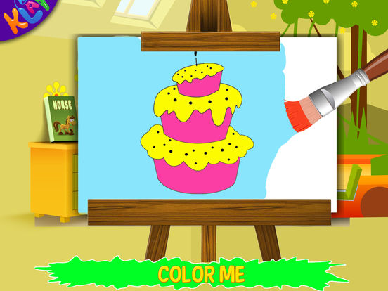 Color Me HD by KLAP - Let you kids learn coloring, painting pictures, bringing their creativity to life. Welcome to the world of colors. iPad Screenshot 4
