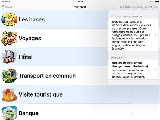 Coach linguistique iPad Screenshot 1