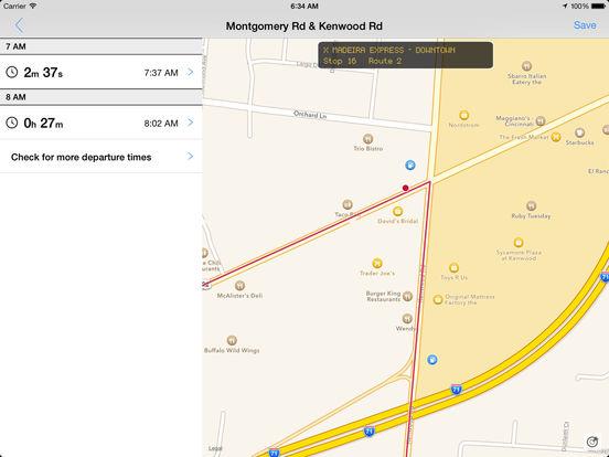 app shopper transit tracker cincinnati sorta tank navigation. Black Bedroom Furniture Sets. Home Design Ideas