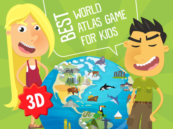 Atlas 3D for Kids – Games to Learn World Geographyscreeshot 1