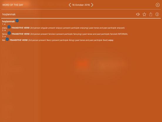 Audio Collins Mini Gem English-Turkish & Turkish-English Dictionary iPad Screenshot 4