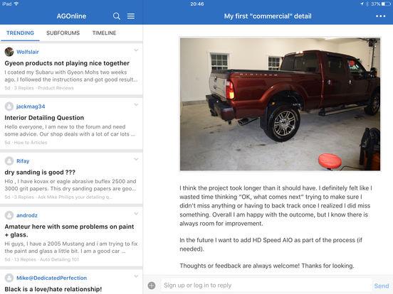 AutogeekOnline iPad Screenshot 2