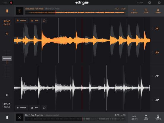 edjing Pro LE DJ Music Mixer: turntable remix MP3 Screenshots