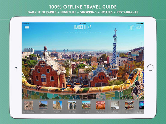 Barcelona Travel Offline iPad Screenshot 1
