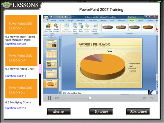 Powerpoint 07 HD Video Training iPad Screenshot 1