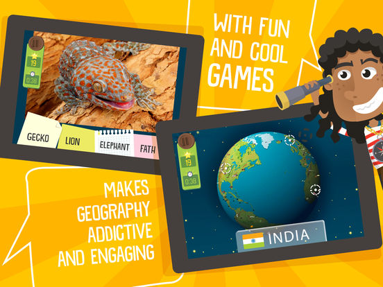 Atlas 3D for Kids – Games to Learn World Geographyscreeshot 2