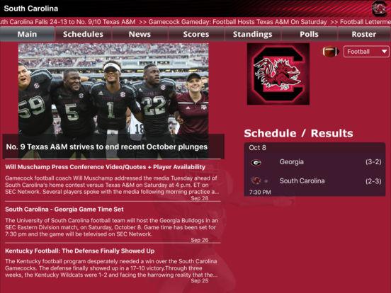 South Carolina College SuperFans iPad Screenshot 1