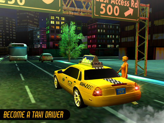 Taxi Driver 3D-Extreme Taxi driving & parking game Скриншоты10