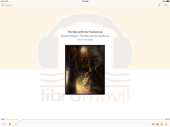 The Man with the Twisted Lip – AudioEbook iPad Screenshot 1