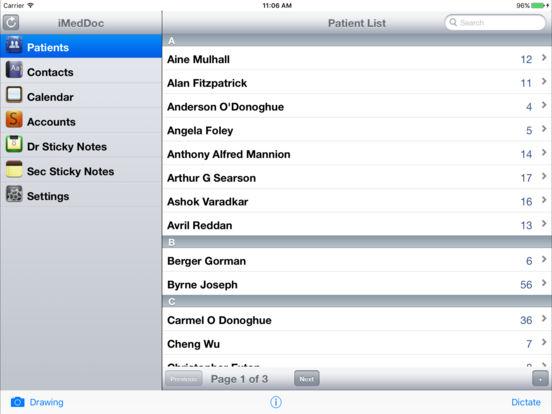 iMedDoc-EMR iPad Screenshot 2
