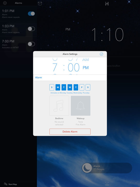 iHome+Sleep, the alarm clock app from the experts on alarm clocks screenshot