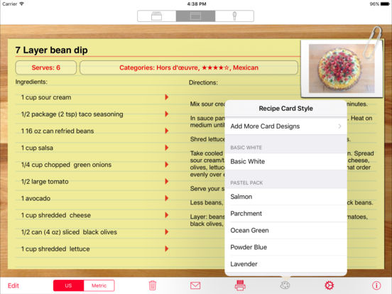 Serving Sizer Pro Recipe Cards for iPad - your recipes, organized for cooking iPad Screenshot 3