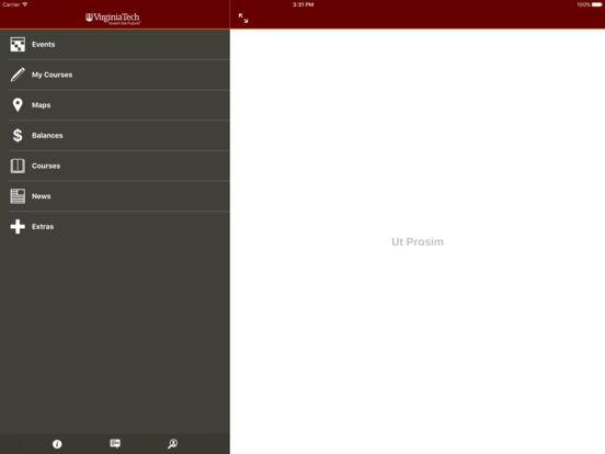 Hokie Mobile iPad Screenshot 1
