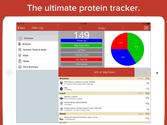 Protein Tracker - build muscle and gain strength iPad Screenshot 1