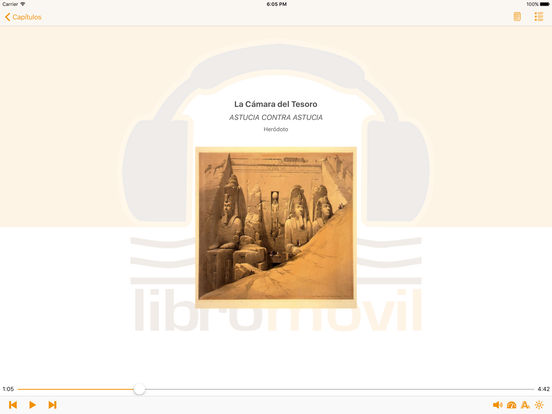 La Cámara del Tesoro - AudioEbook iPad Screenshot 2