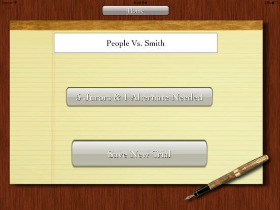 iJuror iPad Screenshot 2