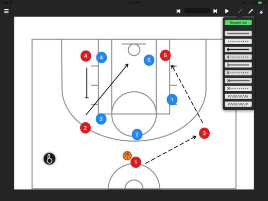 Basketball coach's clipboard iPad Screenshot 3