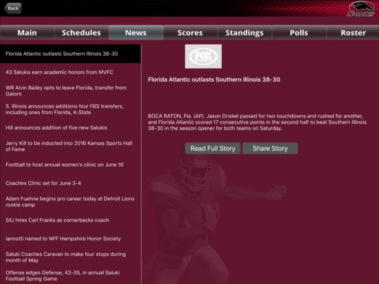 Southern Illinois Salukis College SuperFans iPad Screenshot 2