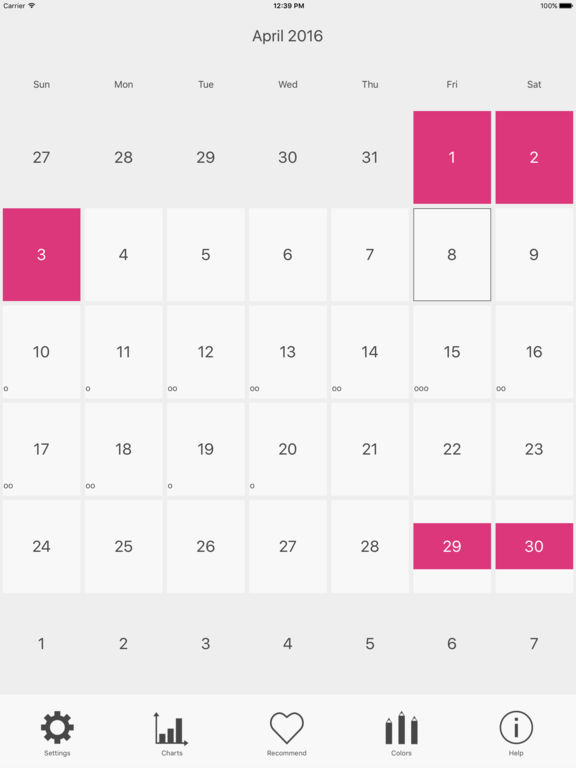 Menstrual Period Tracker and Ovulation Calendar screenshot