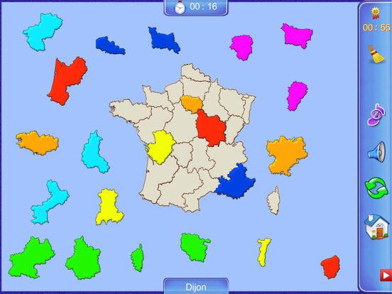 France Puzzle Map iPad Screenshot 1