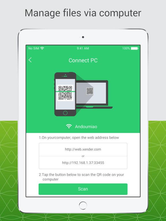 Screenshots of Xender for iPad