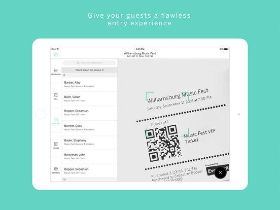Eventbrite Easy Entry iPad Screenshot 2