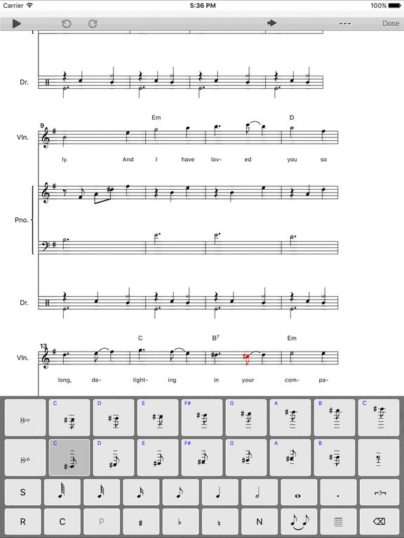 Score Creator for iPad - Music notation & composition screenshot