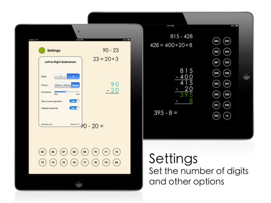 Left-to-Right Subtraction iPad Screenshot 2