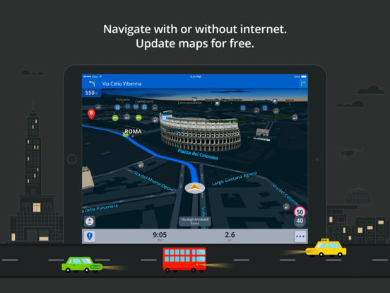Sygic Europe: GPS Navigation, TomTom Offline Maps. Скрин 4