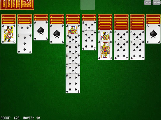Solitaire Spider iPad Screenshot 1
