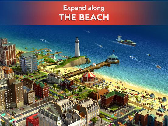 Screenshots of SimCity BuildIt for iPad