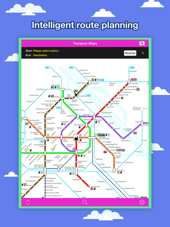 Vienna Transport Map - U-Bahn Map & Route Planner Screenshots
