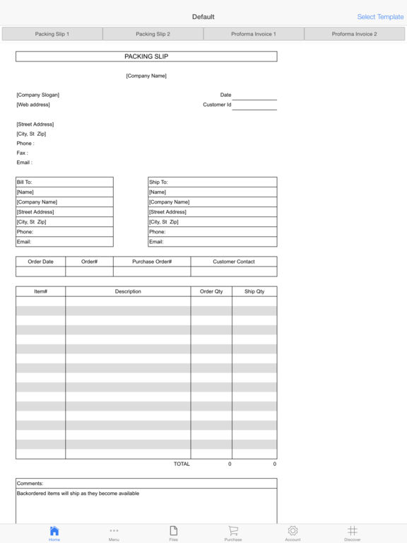 Purchase Invoice Screenshots