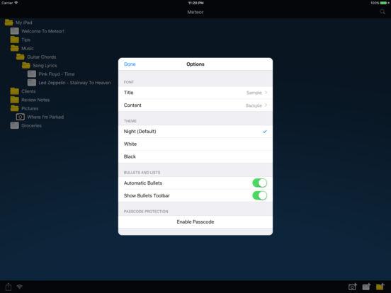 Meteor Notes Lite iPad Screenshot 4