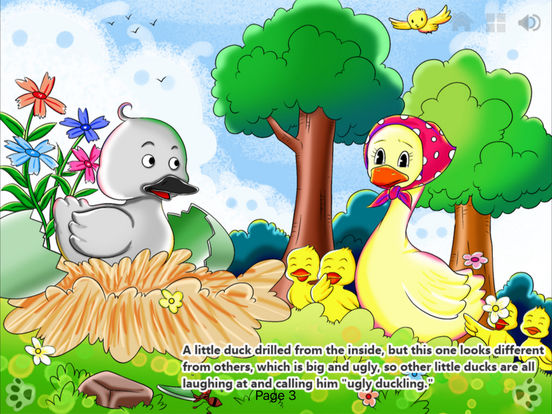 iBigToy-The Ugly Duckling HD Lite iPad Screenshot 1