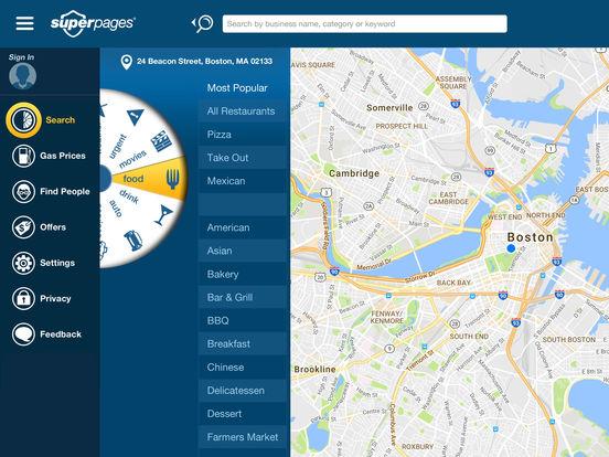 Superpages iPad Screenshot 2
