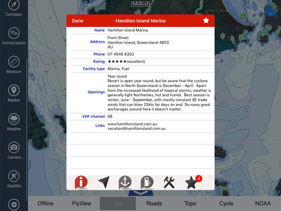 Marine: Coral Sea HD - GPS Map Navigator iPad Screenshot 4