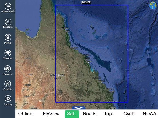 Marine: Coral Sea HD - GPS Map Navigator iPad Screenshot 5