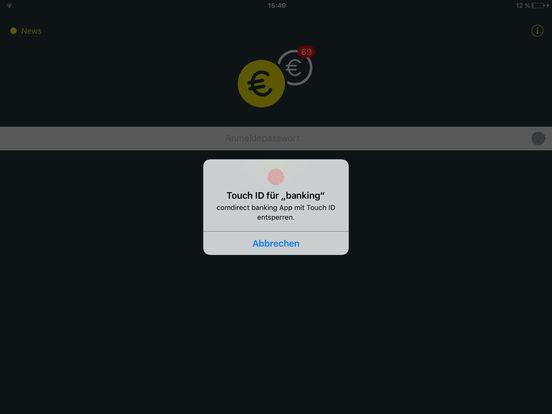 comdirect Banking App iPad Screenshot 1