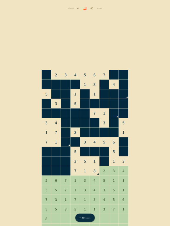 Tenfold – 27 numbers, infinite puzzles. Screenshots