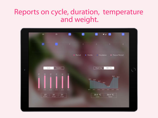 Period Tracker - Monthly Cycles, Menstrual Calendar & Ovulation / Fertility Diary screenshot