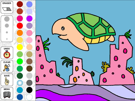Aquarium Coloring ~Ocean Life~ iPad Screenshot 1