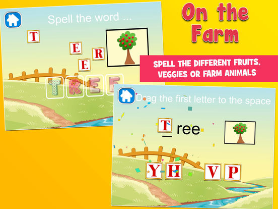 On the Farm! Farm Animals, Fruits and Vegetables